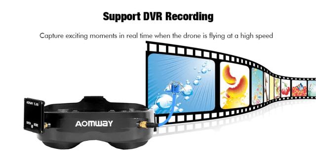AOMWAY Commander V2 FPV Goggles HD DVR Recording