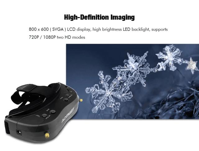 AOMWAY Commander V2 FPV Goggles HD Imaging