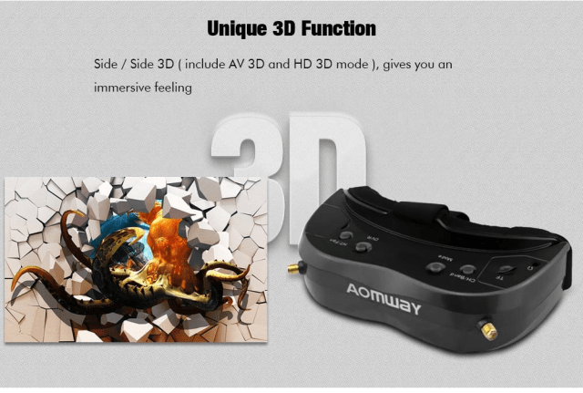 AOMWAY Commander V2 FPV Goggles Unique Function