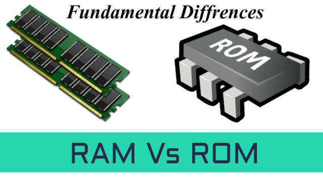 Difference Between RAM and ROM Fundamental diffrence