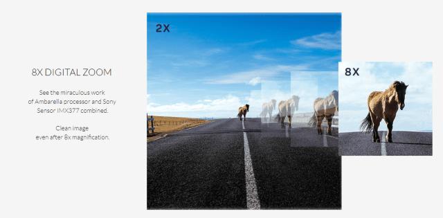 SJCAM SJ8 Plus Digital Zoom