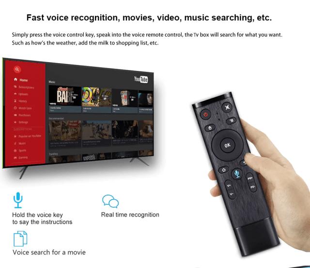 Scishion AI One Android 8.1 TV Box Controlling