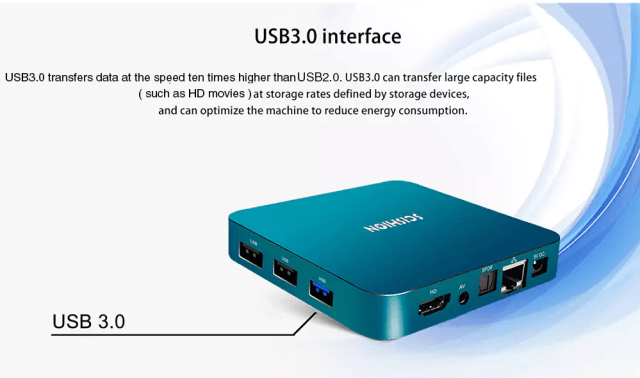 Scishion AI One Android 8.1 TV Box Power POots