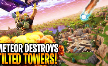 When will the Meteor Hit Tilted Towers