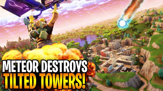 When is meteor hitting tilted towers