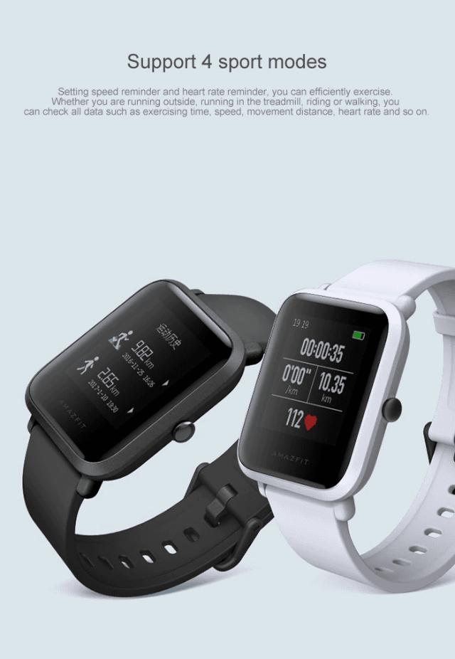 Xiaomi Amazfit Smartwatch Modes