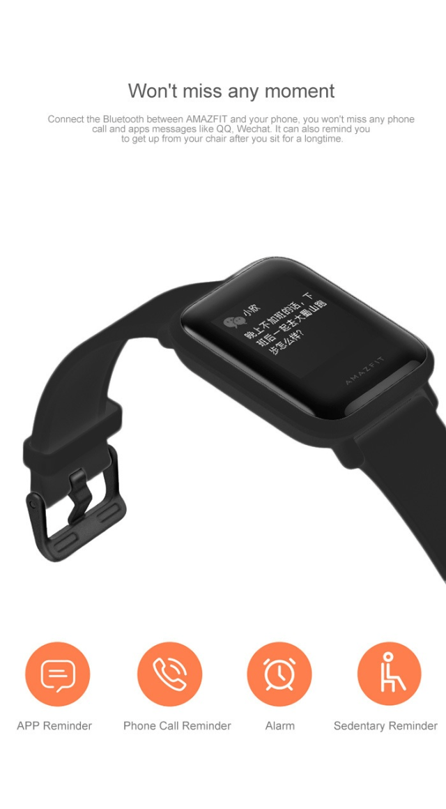 Xiaomi Amazfit Smartwatch Notification