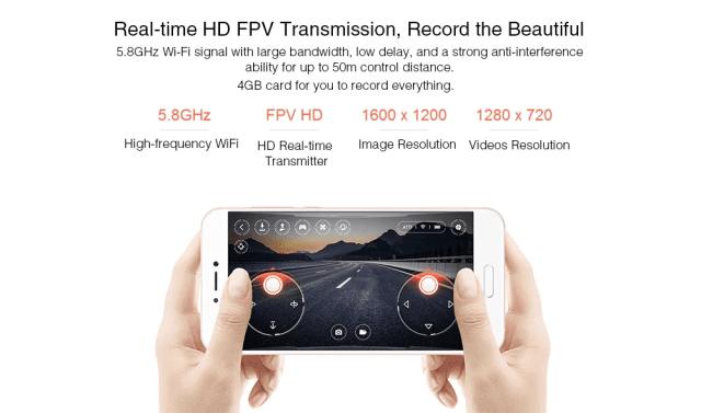 Xiaomi MITU Mini RC Drone Transmition