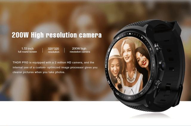 Zeblaze Thor Pro 3G Smartwacth Camera