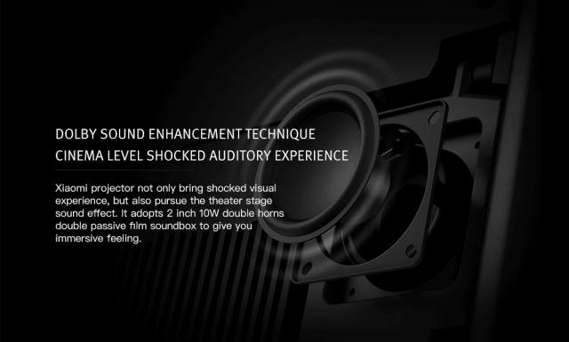 Xiaomi TYY01ZM DLP 3500 Lumens Projector Sound