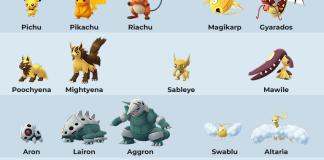 Pokemon Go Shiny List