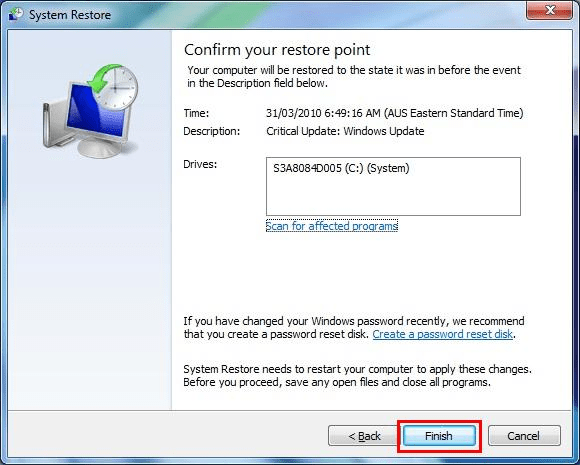 How to Fix Error 3002 Step 4