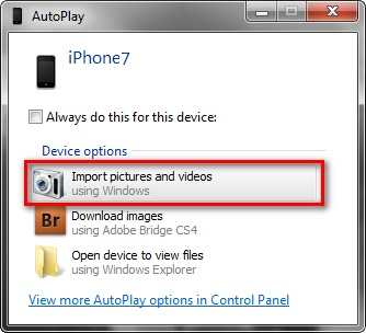 Transfer Photos from iPhone to Android by using your PC's Automated Backup
