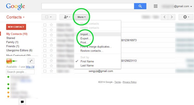 by Importing it into Gmail