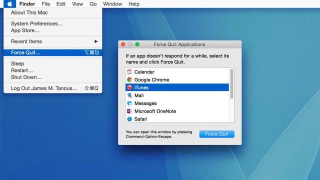 Force Quit iTunes & Restart Your Computer