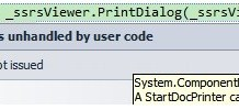 A StartDocPrinter Call Was Not Issued Error