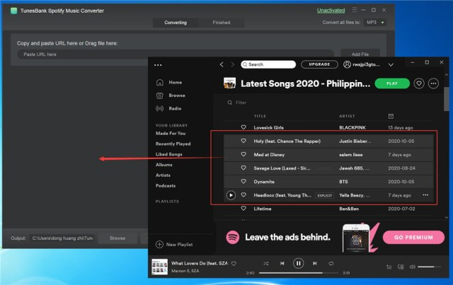 After the purchase is successful, you can copy and paste the URL or directly drag and drop Spotify songs into the Spotify Music Converter