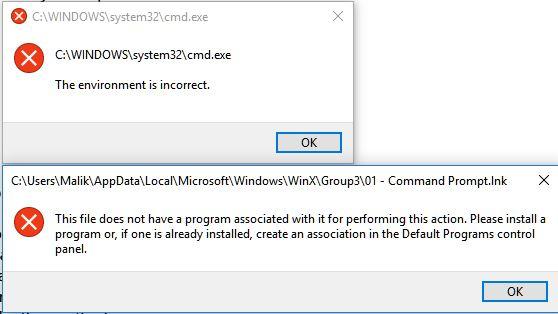 cmd error