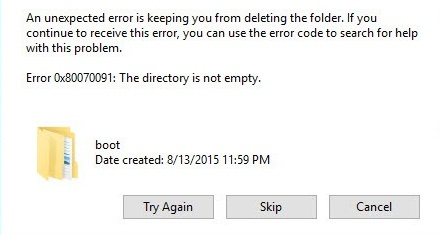 The Directory is Not Empty