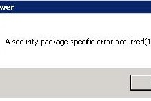A Security Package Specific Error Occurred 1825