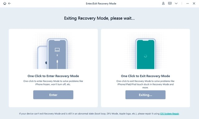 Exit Recovery Mode