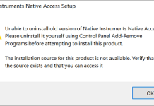 The Installation Source For This Product is Not Available