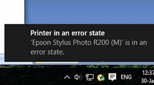 Printer In Error State Issues