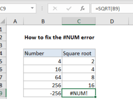 #num Error In Excel