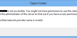 The specified network provider name is invalid