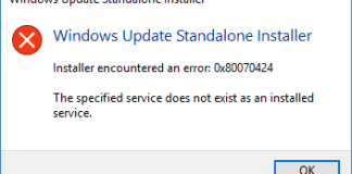 The Specified Service Does Not Exist As An Installed Service