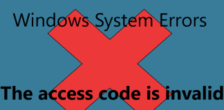 The Access Code Is Invalid