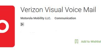 Verizon visual voicemail app main