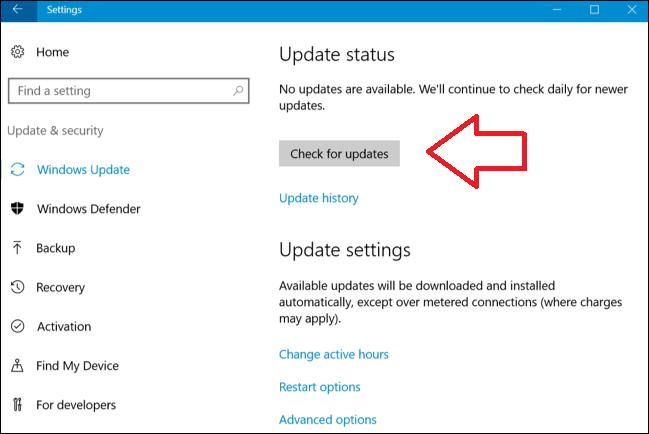 Windows update Google Docs Encountered an Error