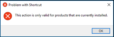 This Action Is Only Valid For Products That Are Currently Installed