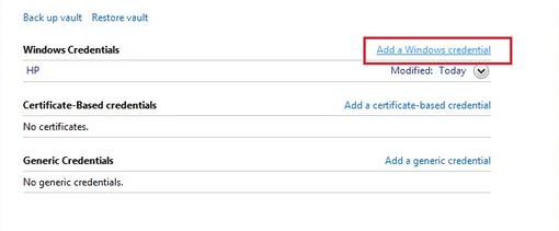Add Windows Credential