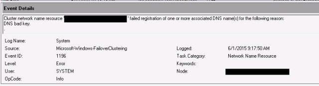 DNS Bad Key