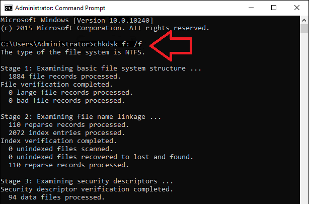 cmd The Volume Does Not Contain A Recognized File System