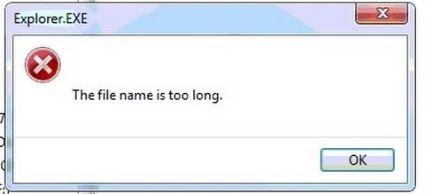 filename too long error