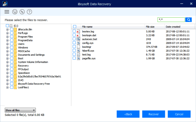 Then check all the lost data recovered by software and select the file you want to recover