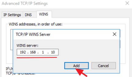 WINS The Specified Domain either does not Exist or Could not be Contacted
