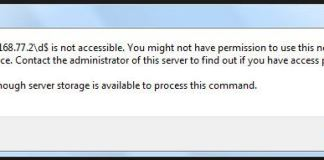 Not Enough Server Storage Is Available To Process This Command