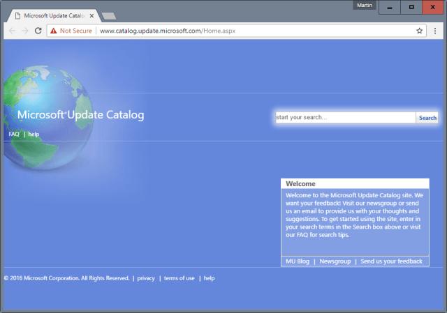 Microsoft Updates Catalog The Data Is Invalid
