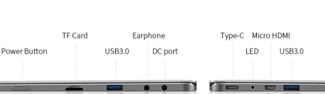 ports Teclast F6 Plus