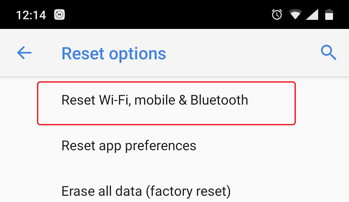 Reset Wi-Fi, mobile & Bluetooth Facebook Login Error
