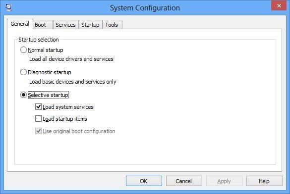 system configuration The Specified Service Does Not Exist as an Installed Service