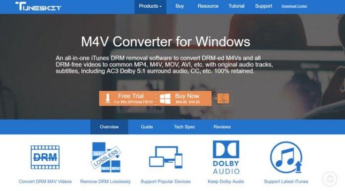 TunesKit M4V Converter For Windows