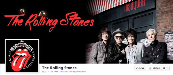 Improved Version of the Rolling Stones Facebook Timeline Page