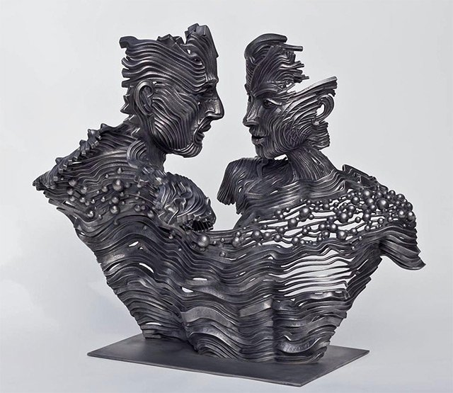 Human Figures made of untangling stainless Steel _6