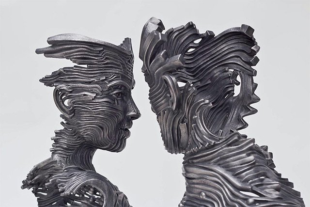 Human Figures made of untangling stainless Steel _5