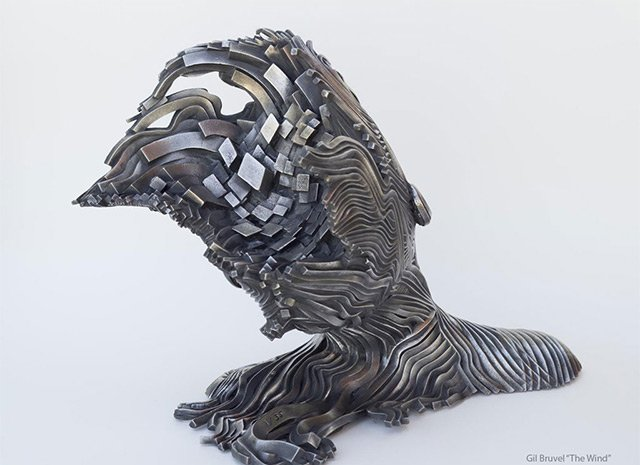 Human Figures made of untangling stainless Steel _1